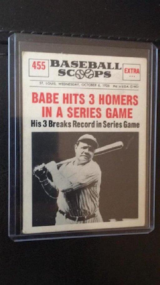 1961 Nu Card Baseball Scoops 455 Babe Ruth 3
