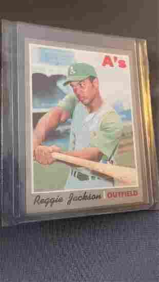 Reggie Jackson 1970 Topps near mint