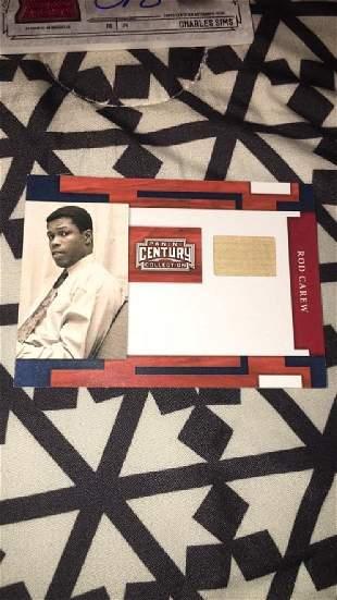 Rod Carew panini century collection bat card /25