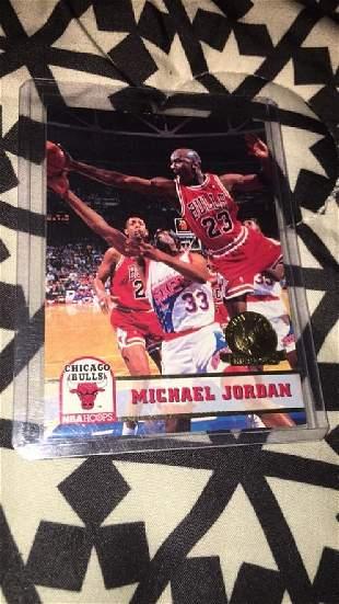 Michael Jordan 1993 hoops fifth anniversary gold