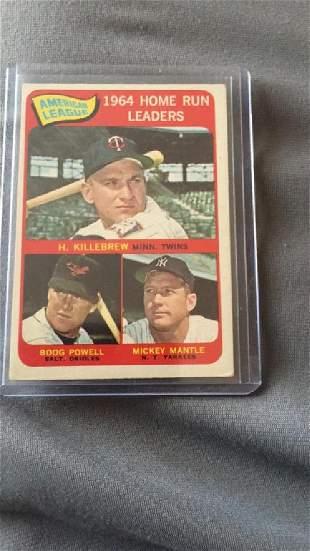 Mickey Mantle Harmon Killebrew 1964 homerun