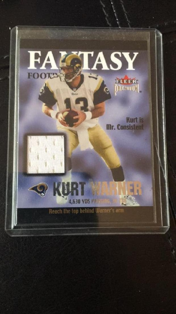 Kurt Warner fleer premiums fantasy football game