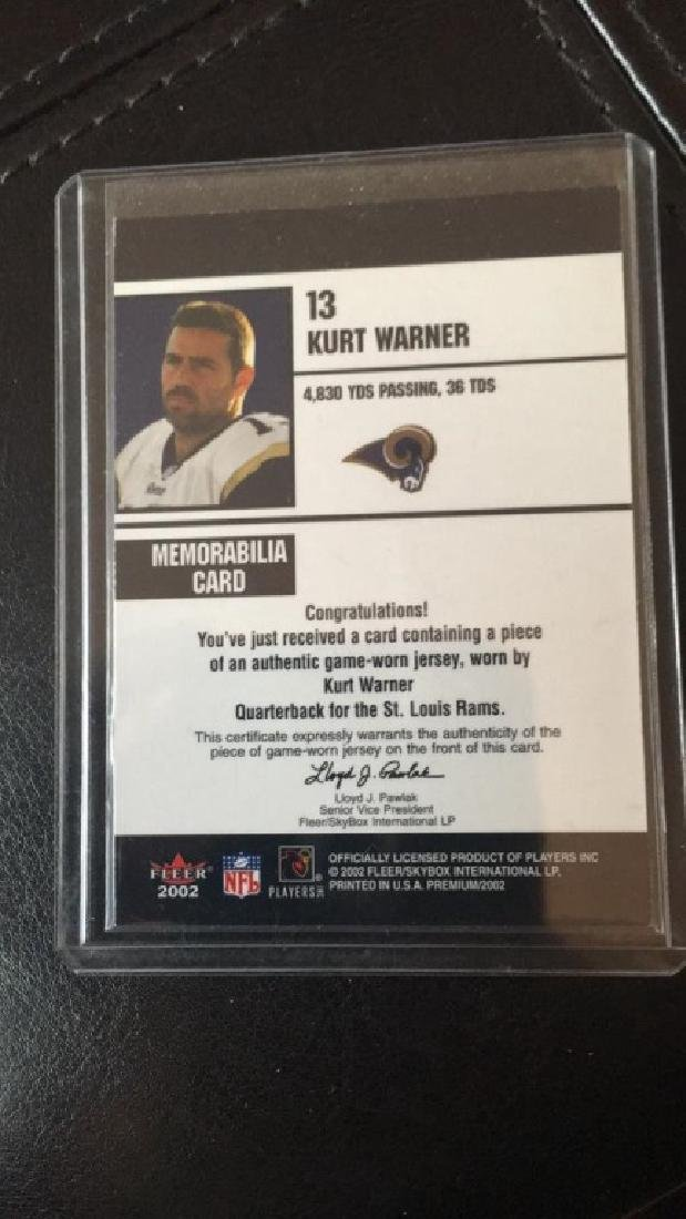Kurt Warner fleer premiums fantasy football game - 2