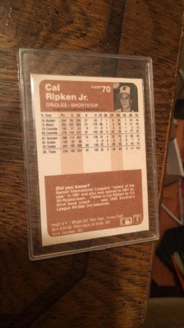 Cal Ripken Jr 1983 fleer - 2