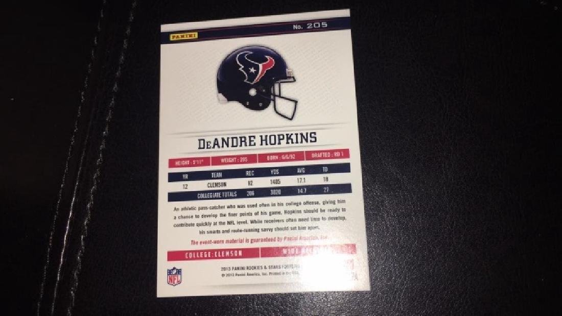 Deandre Hopkins rookie stars patch /99 - 3