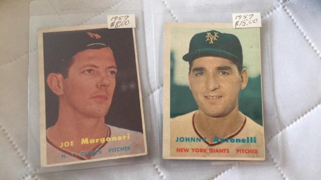 Johnny Antonelli and Joe Margoneri 1957 Topps