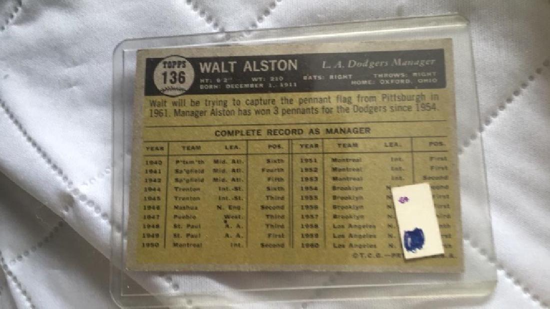 Walt Alston 1961 Topps - 2