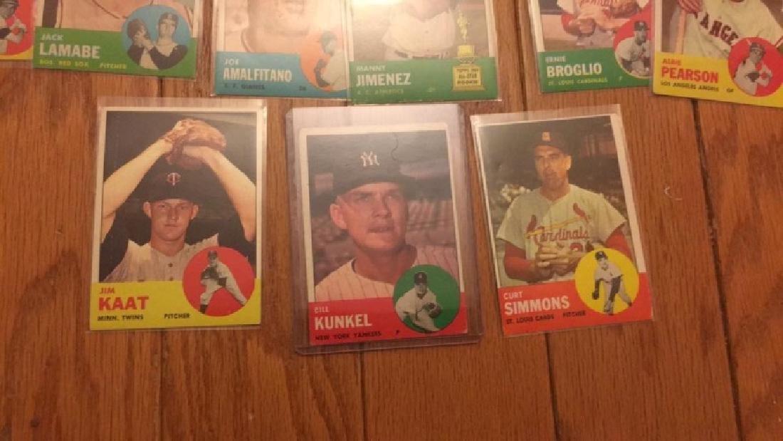 40 1963 Topps vintage Baseball card lot with Jim - 2