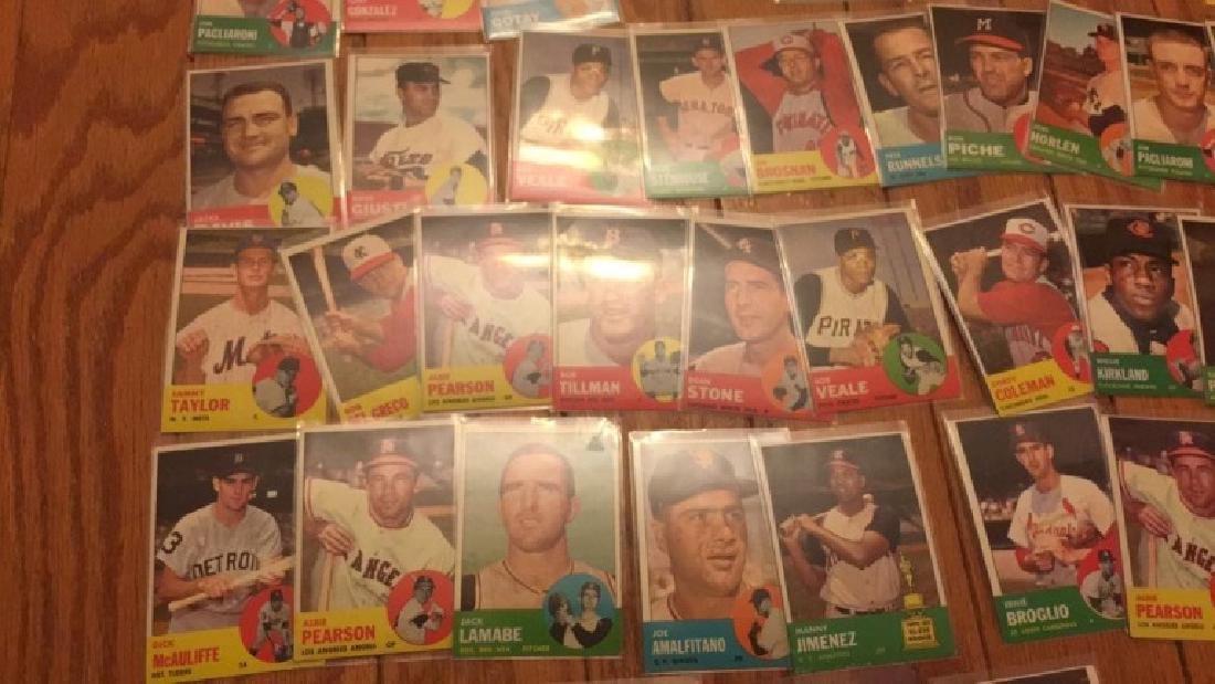40 1963 Topps vintage Baseball card lot with Jim - 3