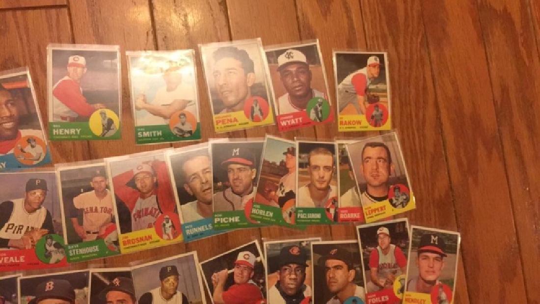 40 1963 Topps vintage Baseball card lot with Jim - 6