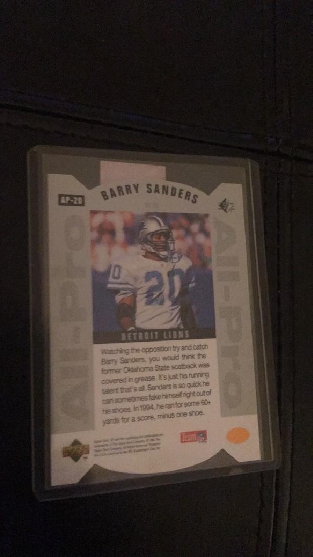 Barry sanders all pro die cut insert - 2