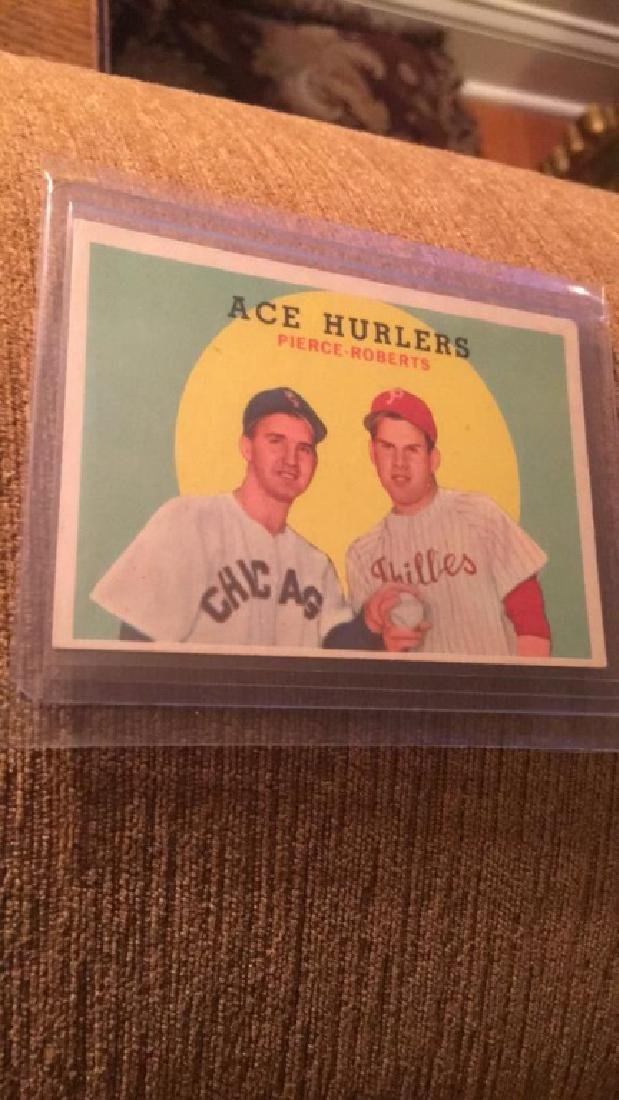1958 Topps Ace hurlers Pierce Roberts nice shape