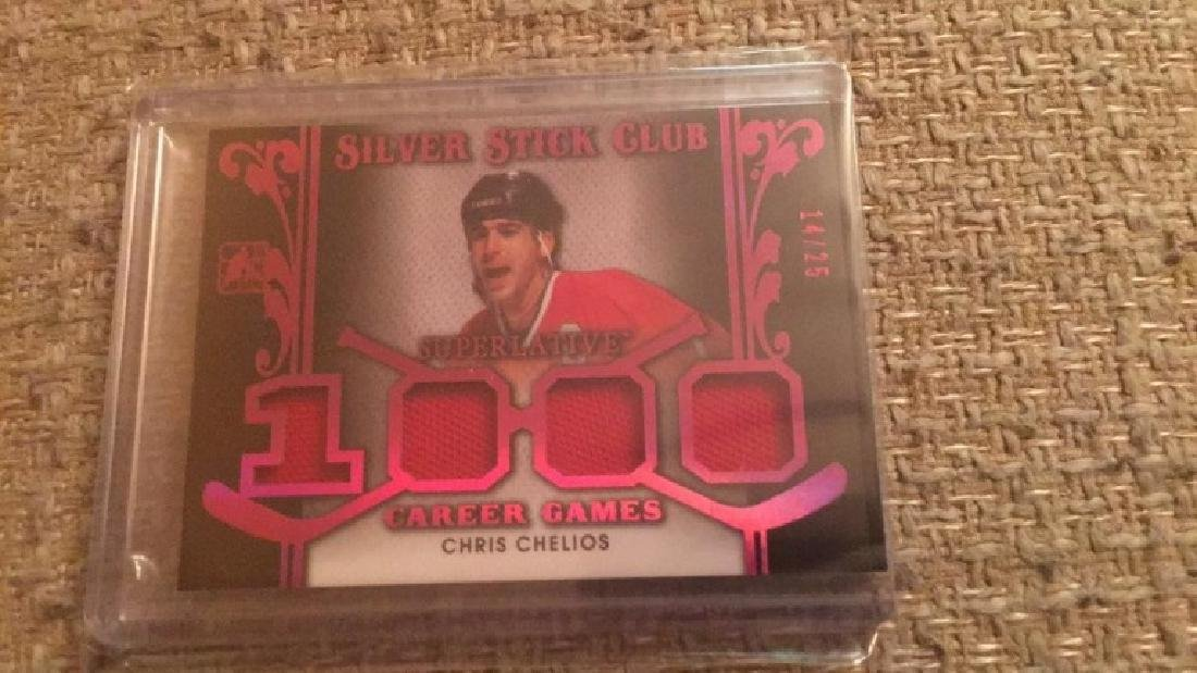 Chris Chelios in the game quad patch /25