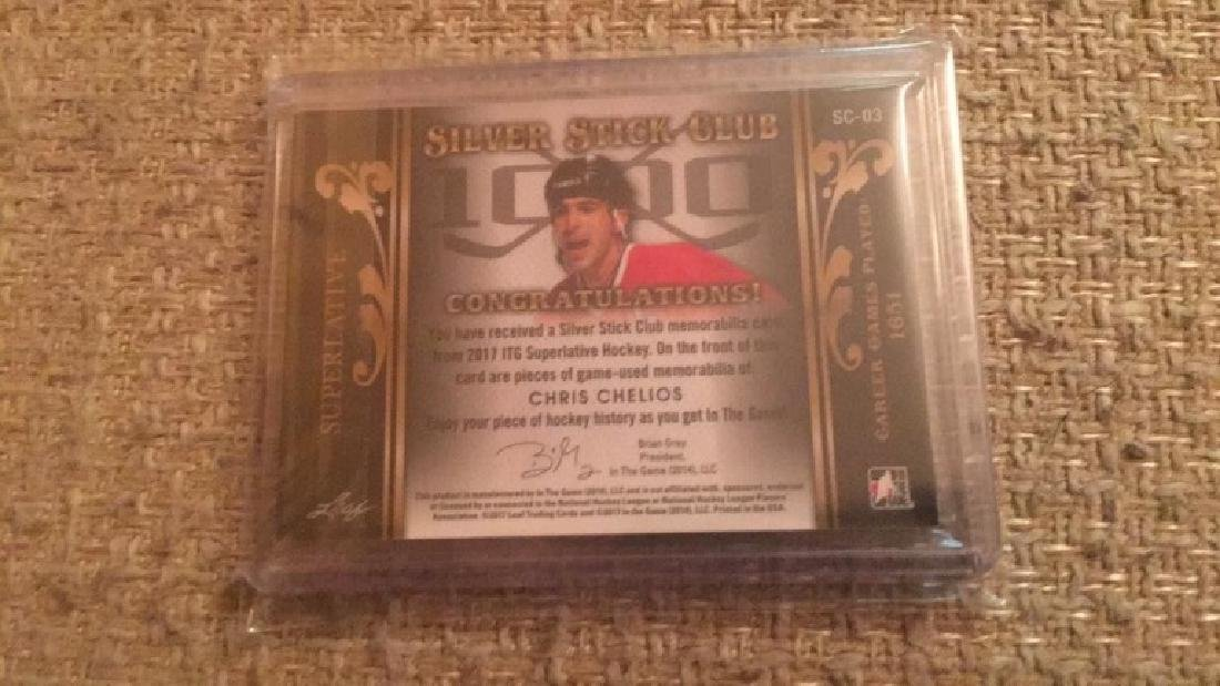 Chris Chelios in the game quad patch /25 - 2