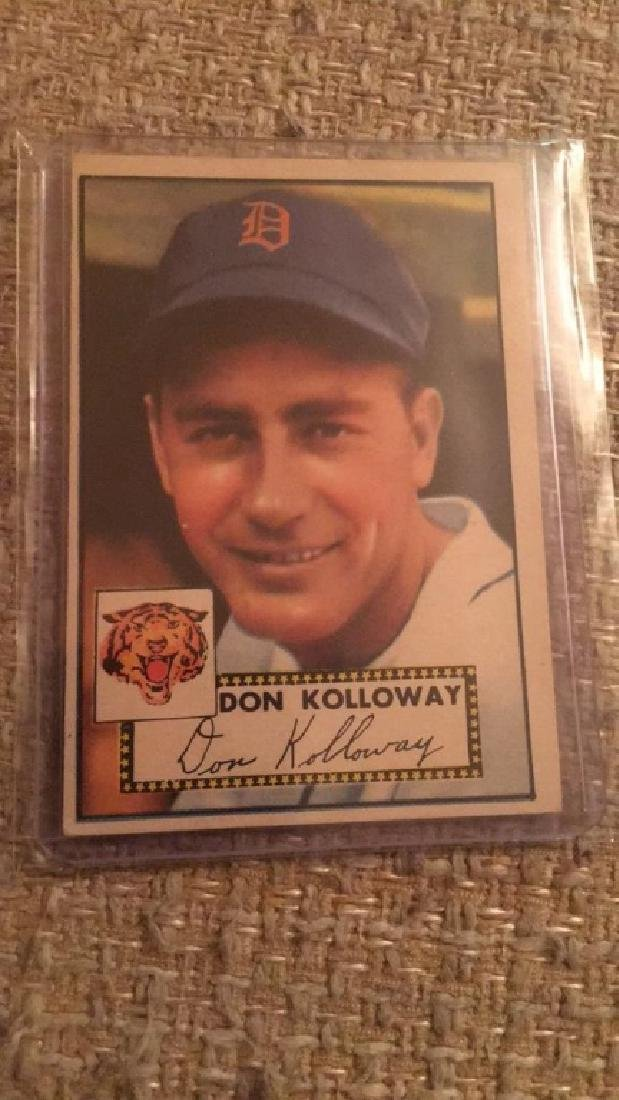 Don Kolloway 1952 Topps nice shape card