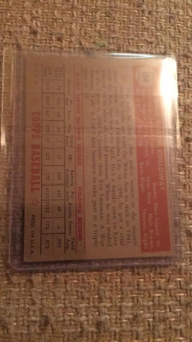 Don Kolloway 1952 Topps nice shape card - 2