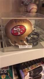 Ronnie Lott autograph Mini Helmet