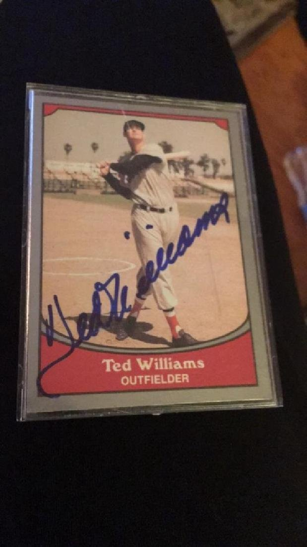 Ted Williams vintage on card autograph