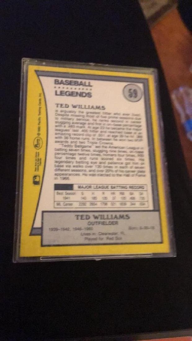 Ted Williams vintage on card autograph - 2