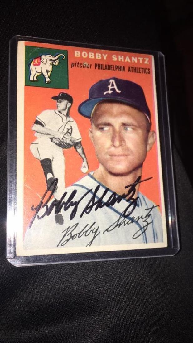 Bobby Shantz 1954 Topps autograph
