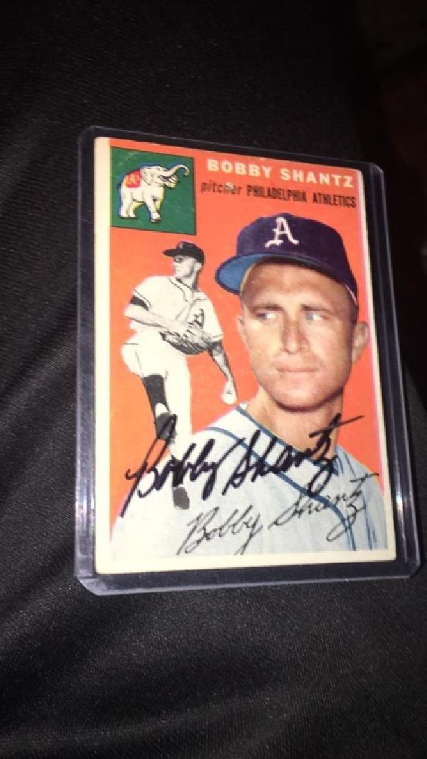 Bobby Shantz 1954 Topps autograph - 2