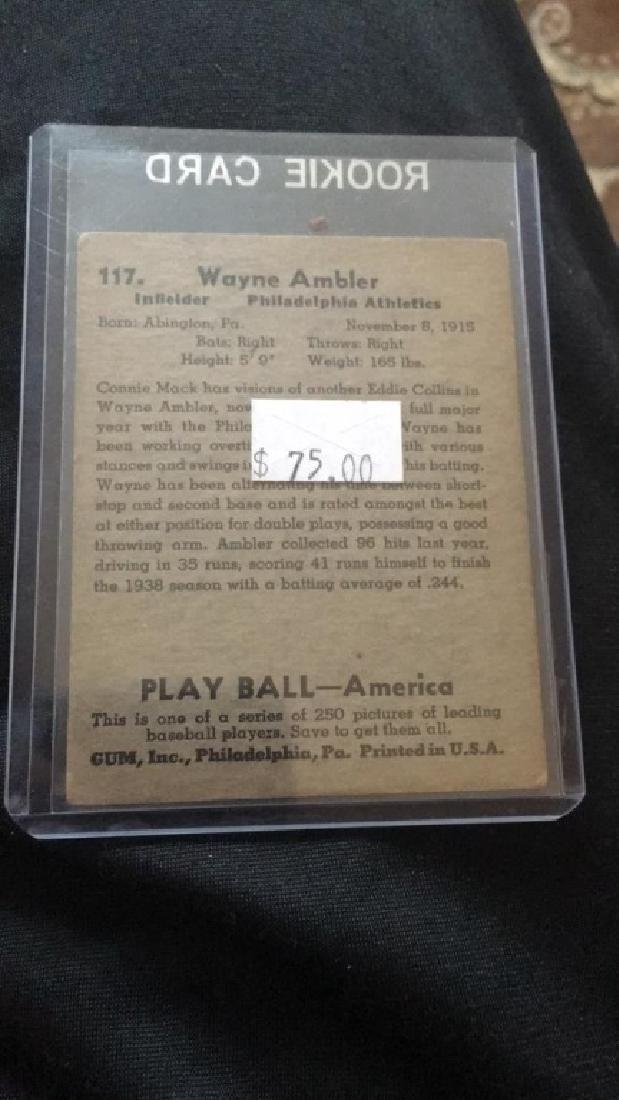 Wayne Ambler 1948 playBall vintage card - 2
