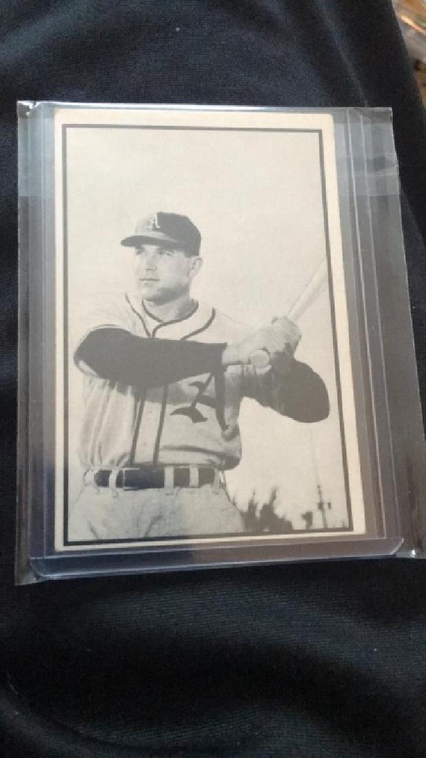 Eddie Robinson 1953 Bowman black white