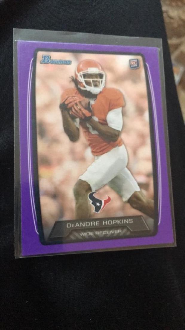 Deandre Hopkins 2013 bowman purple