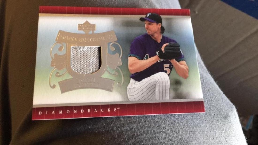 Randy Johnson game materials jersey