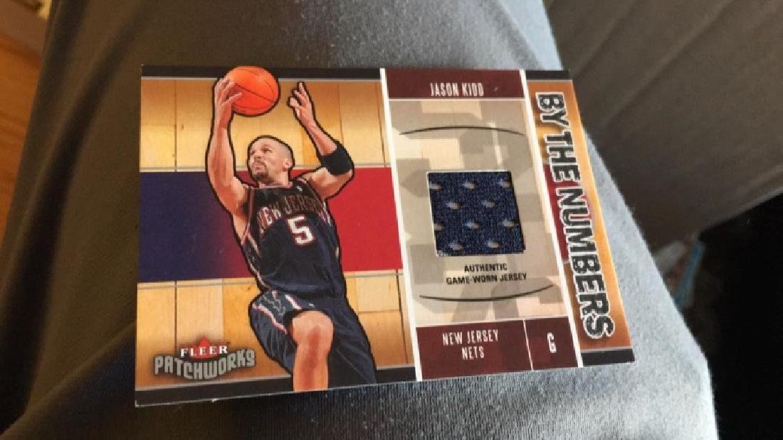 Jason Kidd by the numbers jersey card