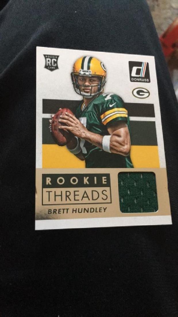 Brett Hundley 2015 Donruss rookie threads jersey