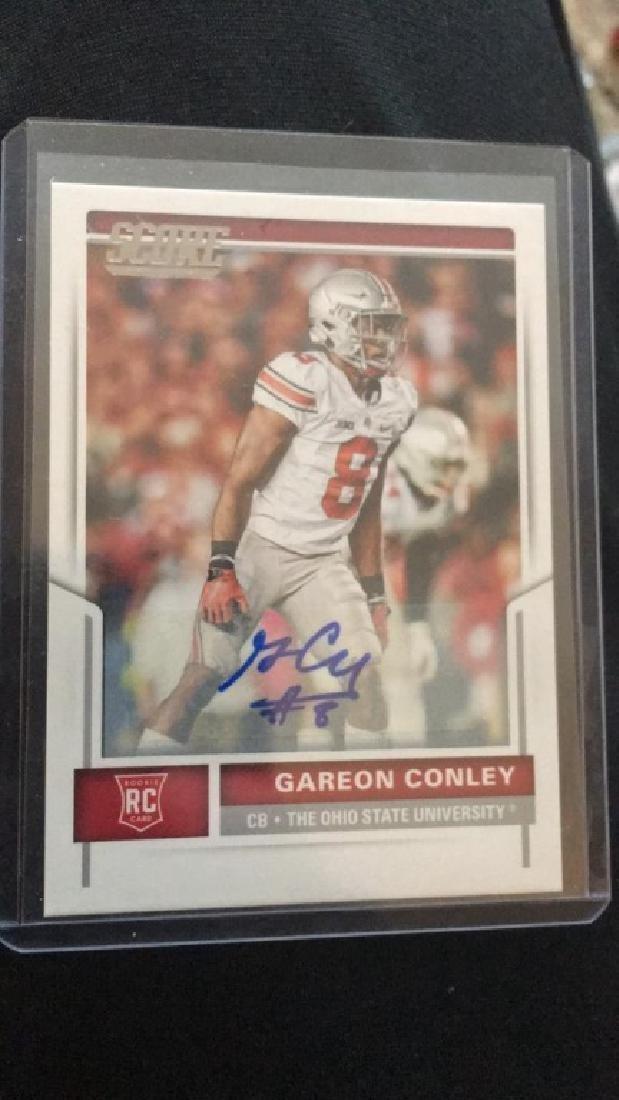 Gareon Conley 2017 score auto RC