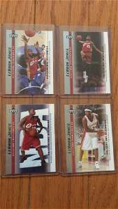 LeBron James a lot of 4 rookie cards
