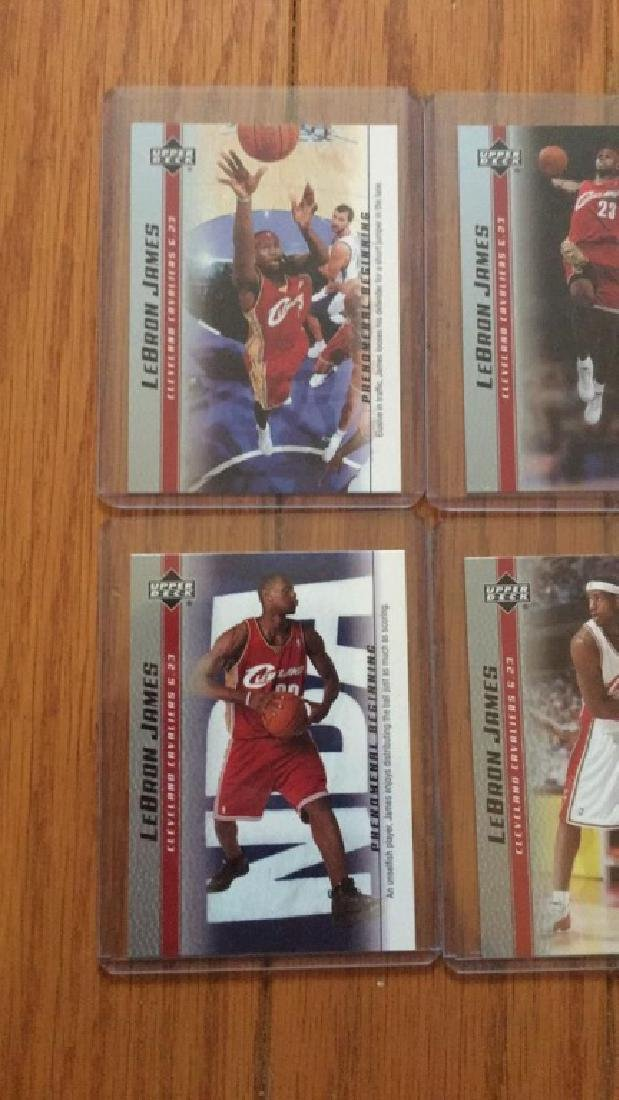 LeBron James a lot of 4 rookie cards - 2
