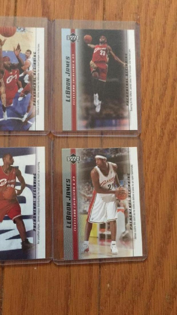 LeBron James a lot of 4 rookie cards - 3