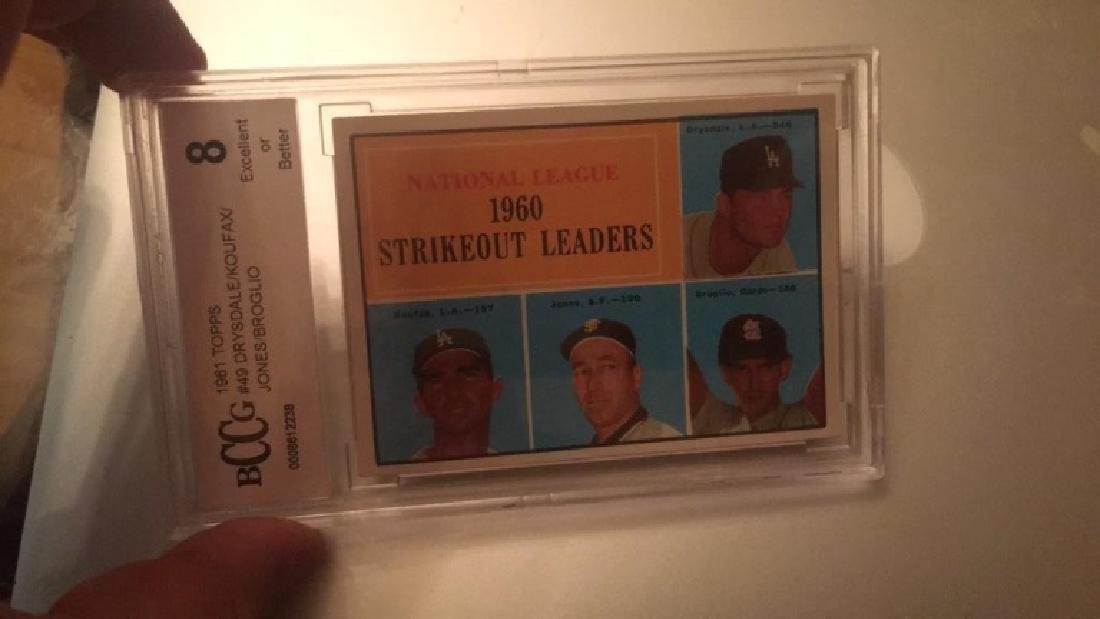 1961 Topps strikeout leaders Sandy Koufax Don