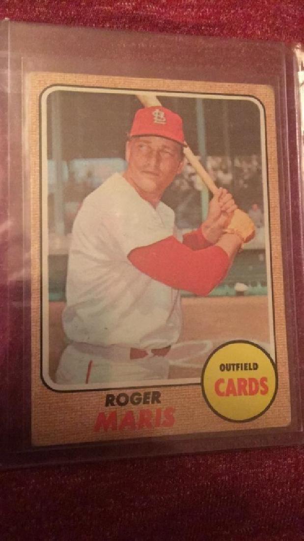 Roger Maris 1968 Topps nice card