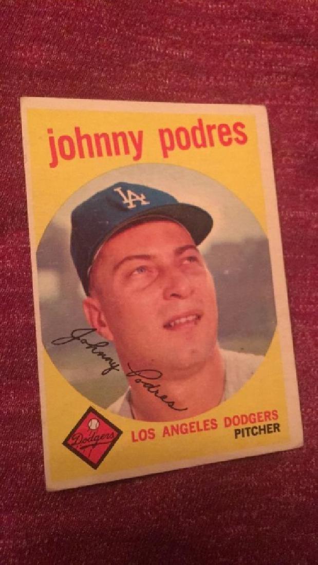 1959 Topps Johnny Podres