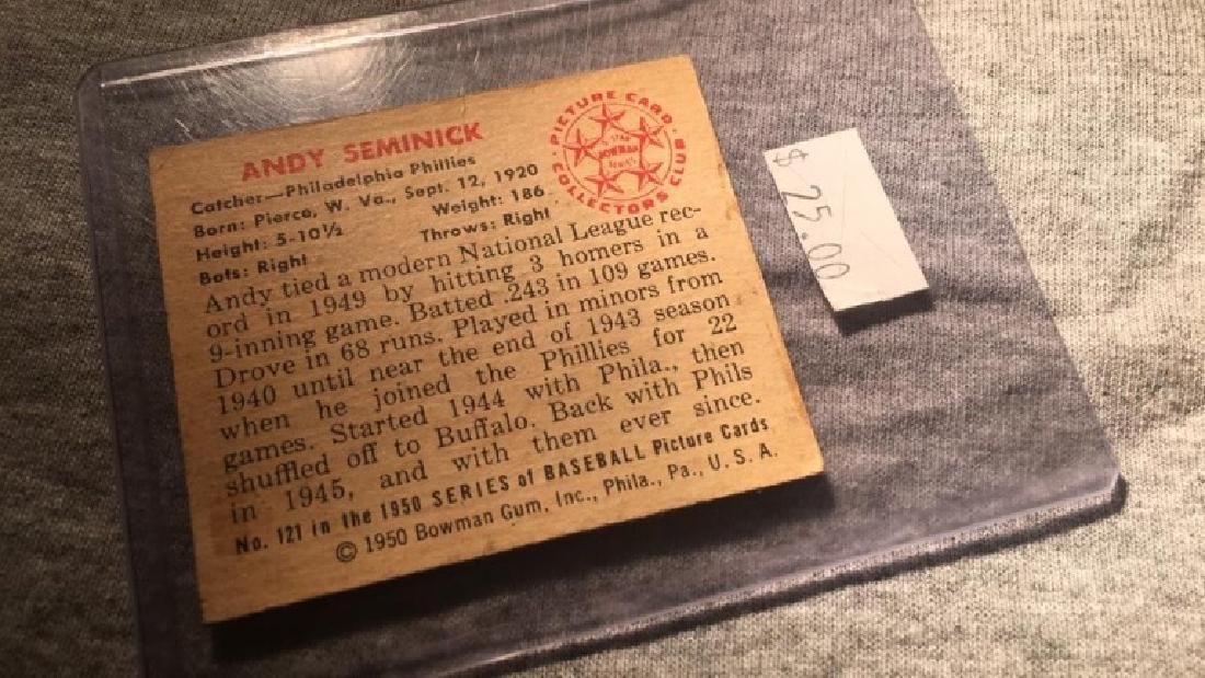 1950 Bowman Andy Seminick - 2