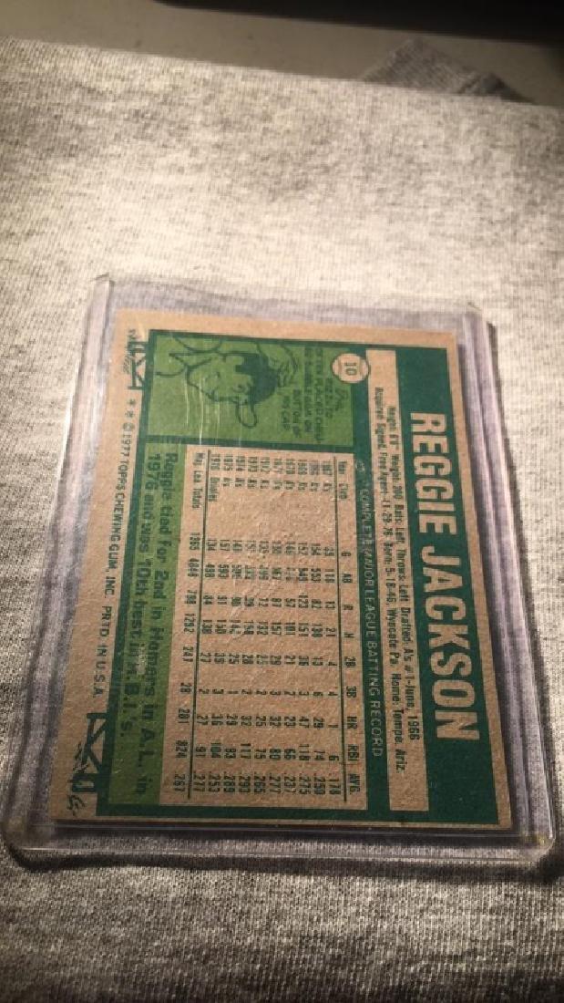Reggie Jackson 1977 Topps - 2