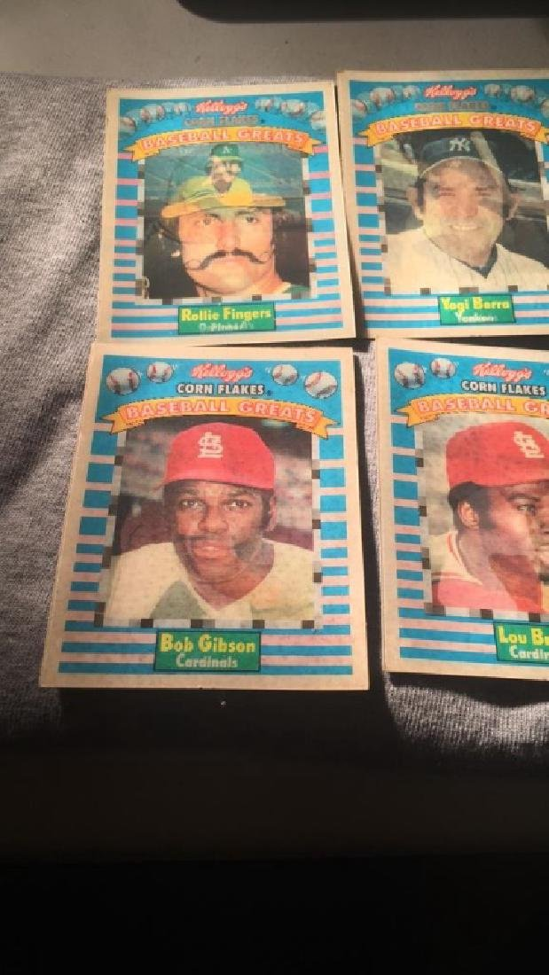 Kellogg's corn flakes baseball greats lot Berra - 2