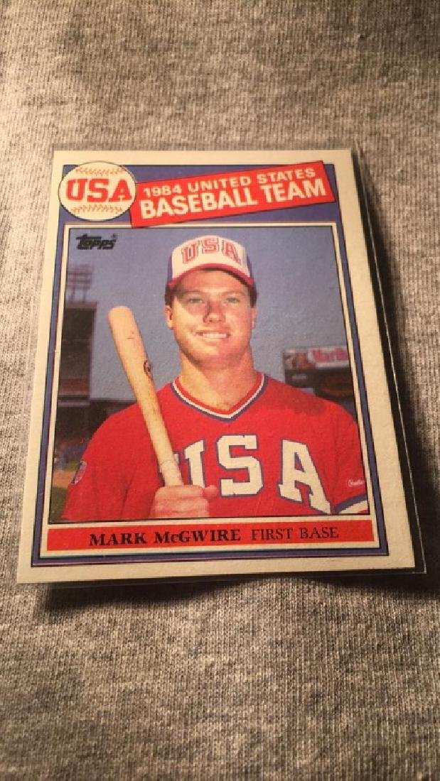 1985 Topps Mark McGwire Olympic RC nice shape