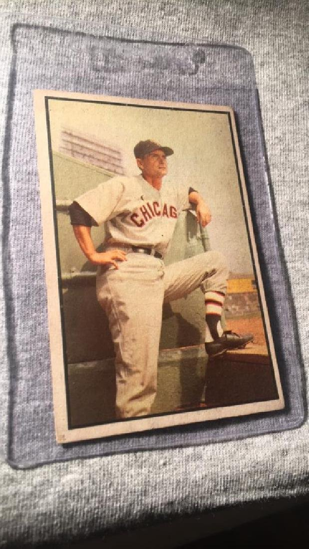 Paul Richards 1953 Bowman Color