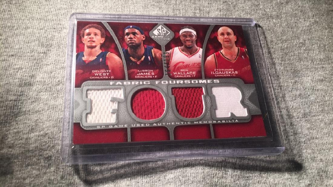 LeBron James SP game used fabric for some quad