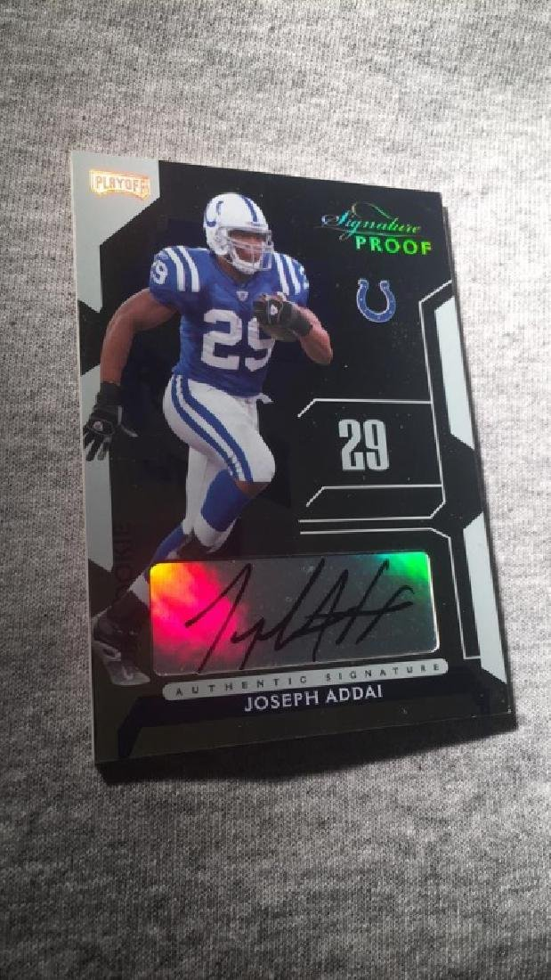 Joseph Addai 2006 signature proof auto /50