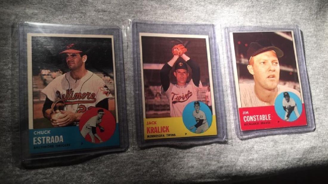 1963 Topps 3 card semi high card lot