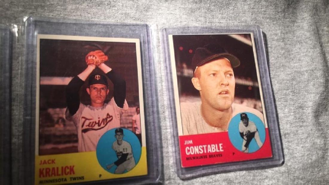 1963 Topps 3 card semi high card lot - 3