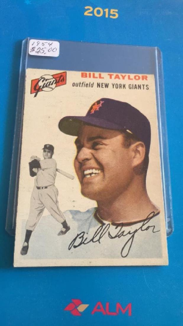 Bill Taylor 1954 Topps nice card