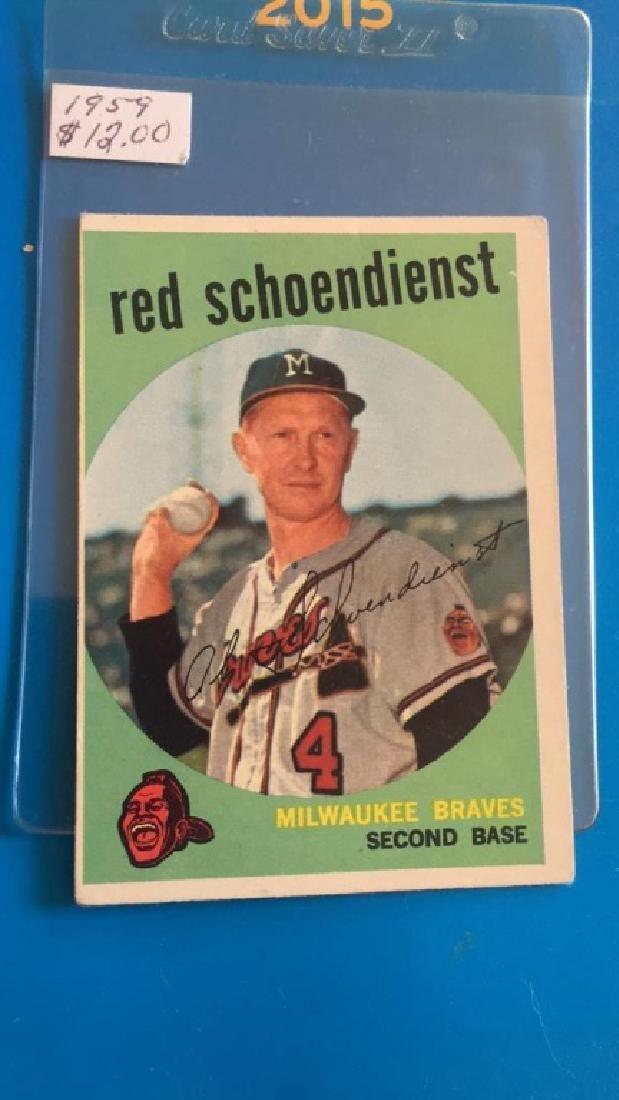 Red Schoendienst 1959 Topps