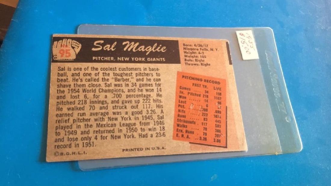 Sal Maglie 1955 Bowman - 2